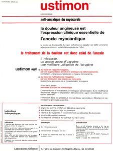 Ustimon® (Hexobendine), from Laboratoires CLEVENOT (Nogent-sur-Marne, France), 1971 (text)